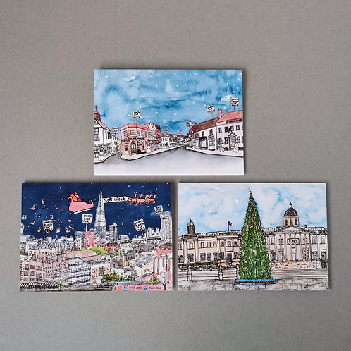 Mixed Set of Six Christmas Cards