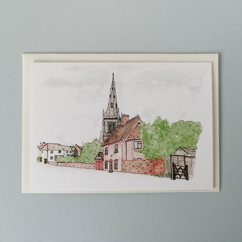 Thaxted Watercolour Greetings Card