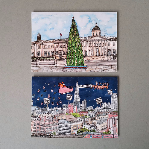 London Christmas Cards - Mixed Set of 6
