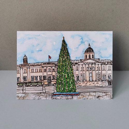 Christmas In Trafalgar Square Christmas Card - Single or Set of 5