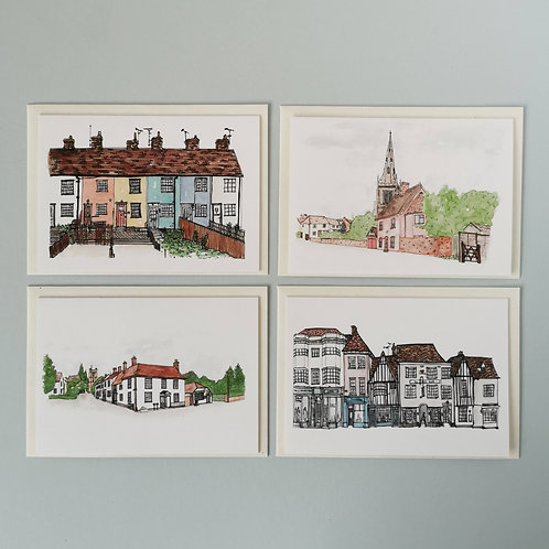 Essex Greetings Cards - Set of 4