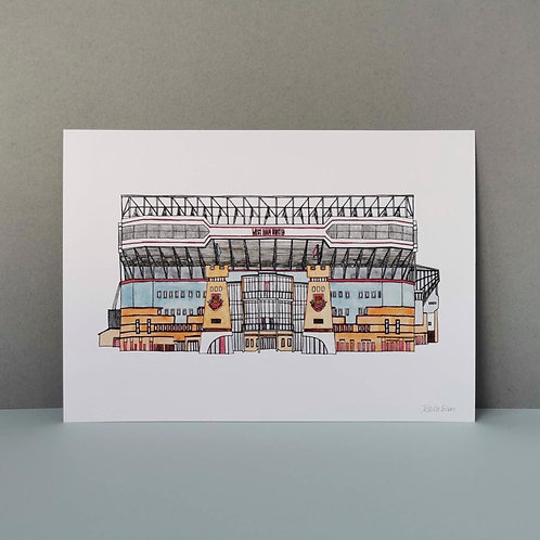 West Ham Football Ground Print - Upton Park Stadium