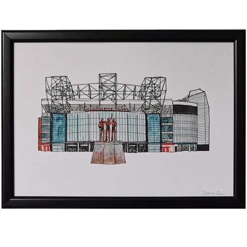 Manchester United Football Stadium Print - Old Trafford Ground