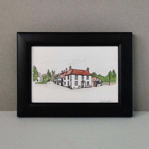 Framed Print of Great Dunmow - Church End