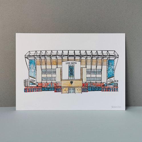 Leeds United Football Stadium Print - Elland Road Ground