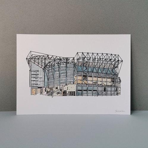 Newcastle Football Stadium Print - St James Park Ground