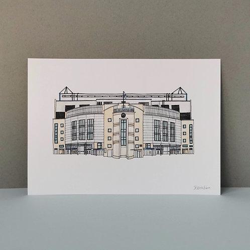 Chelsea Football Stadium Painting - Stamford Bridge Personalised Signed Print