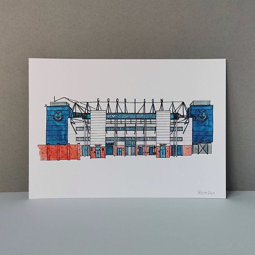 Everton Football Stadium Print Goodison Park
