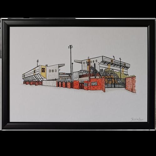 Notts County Football Ground Print - Meadow Lane Stadium