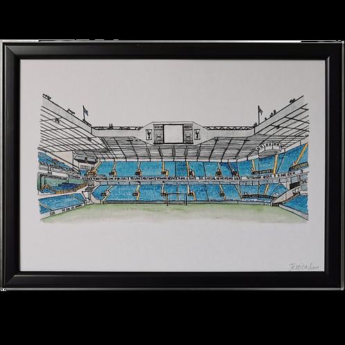 Tottenham Hotspur Football Ground Print - White Hart Lane Stadium