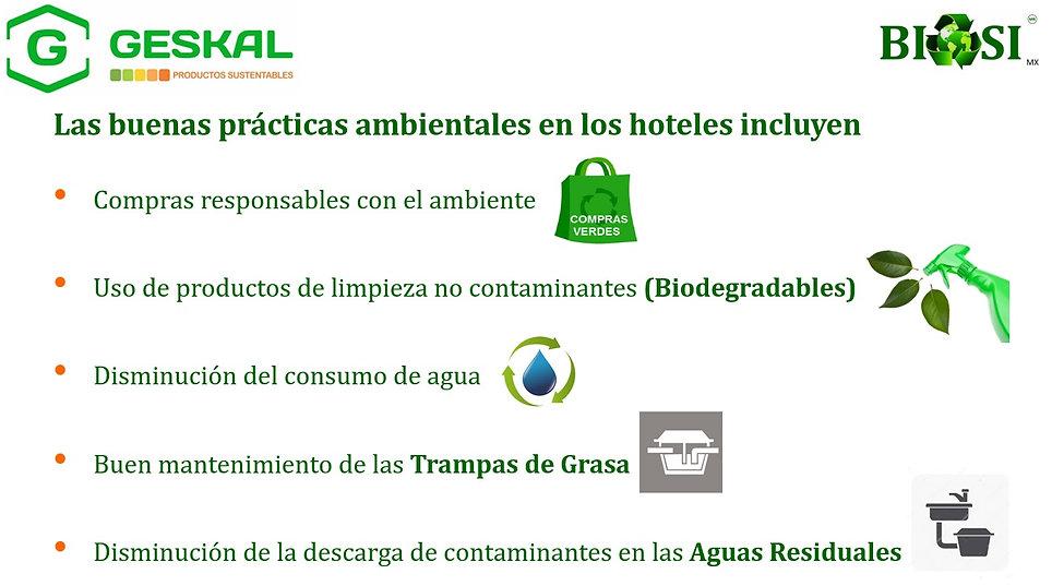 Buenspráctica ambientales Hoteles BIOSI