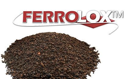 Ferrolox granulado de hidróxido férrico,  para la eliminación de varios contaminantes, en particular para los fosfatos, cobre y cromo.