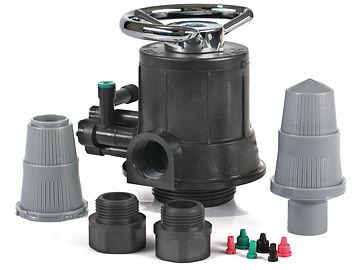 Válvulas aqatrol, par apliccones de filtración como carbón activado y otros medios filtrantes