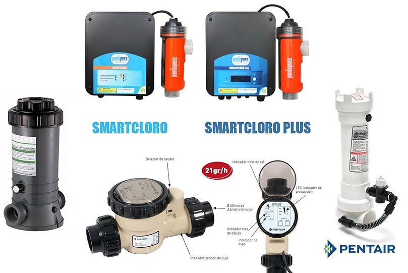 equipos cloradores, smart cloro, pentair