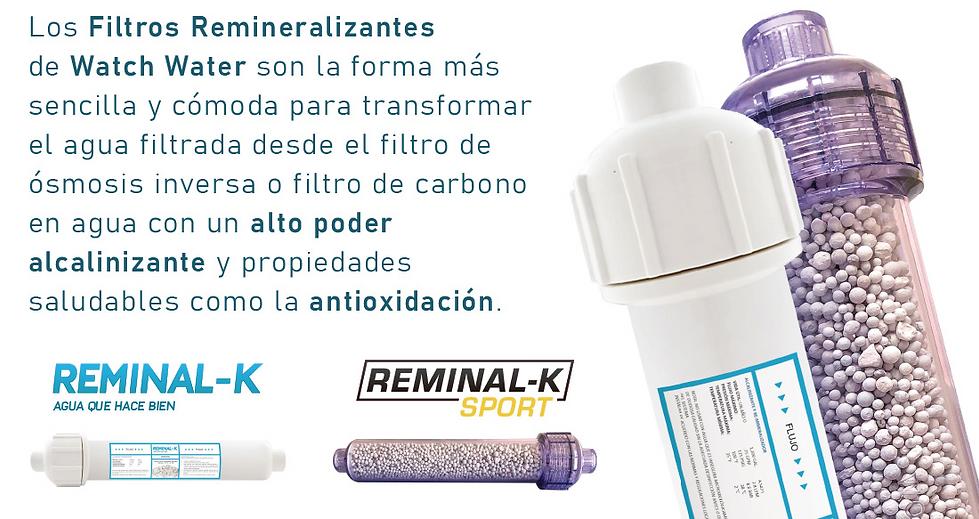 Filtros Remineralizante, alcalinizante y antioxidante, cartuchos para osmosis inversa