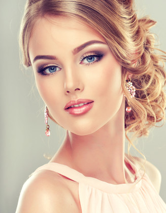 Beautiful model with  elegant hairstyle