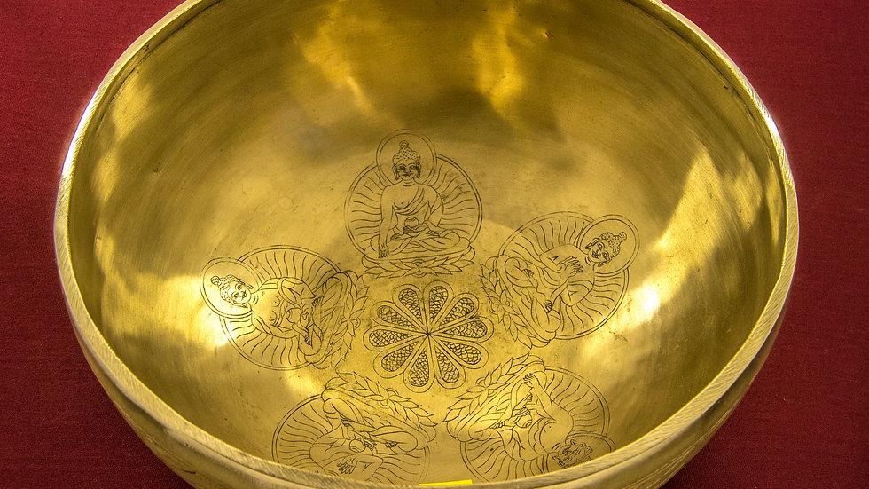Поющая чаша с рисунком. РЕ. 156 Гц.  23 см.