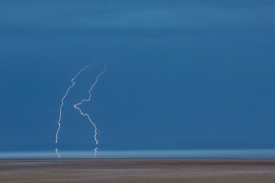 Thunder storm at Salar de Uyuni