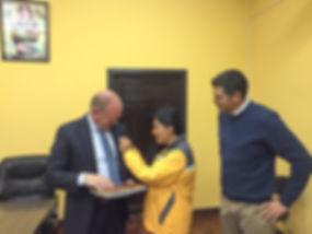 Visiting the mayor of El Alto, La Paz, Bolivia