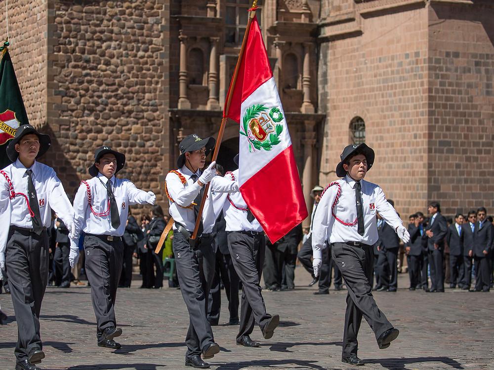 Parade in Cusco, Peru