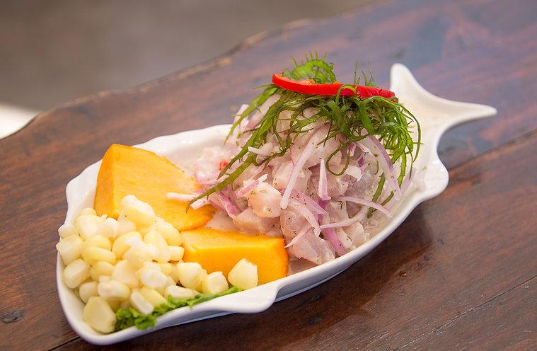 Ceviche-Rocotto at restaurant Don Securia, Chala, Peru