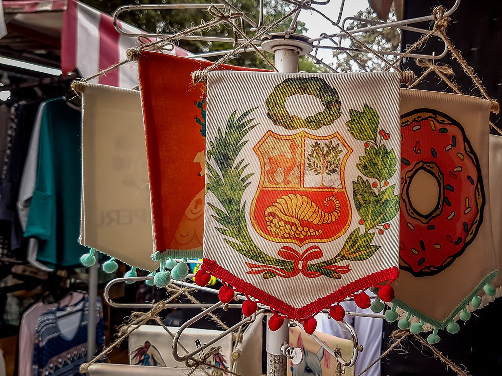 Ensign with the Peruvian Coat of Arms, Barranco, Peru