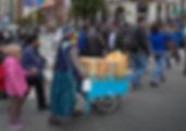 Snacks on their way to the Sagarnaga in La Paz, Bolivia