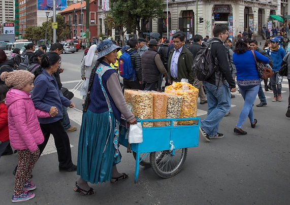 Snacks on their way to the Sagarnaga in La Paz, Bolivia