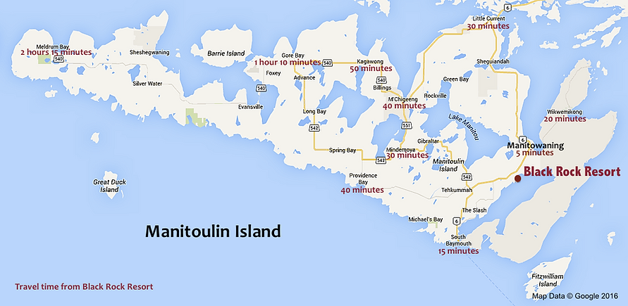 Manitoulin Island, map, directions