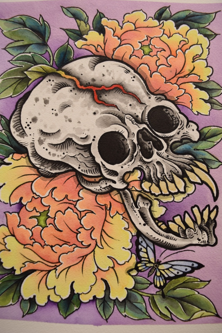 Painting by Evan Lindemann