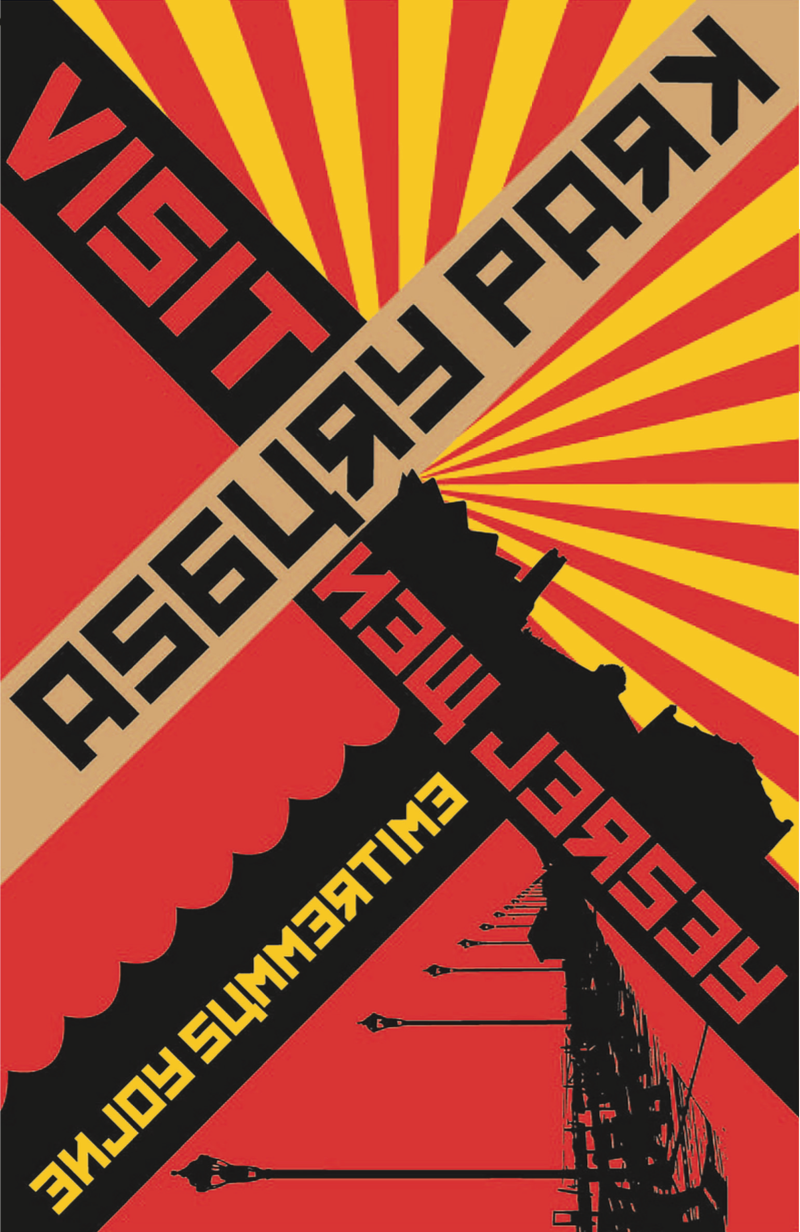 Brookdale Graphic Emily Weiss used an aesthetic from the Russian Constructivists to create a tourism poster for Asbury Park.