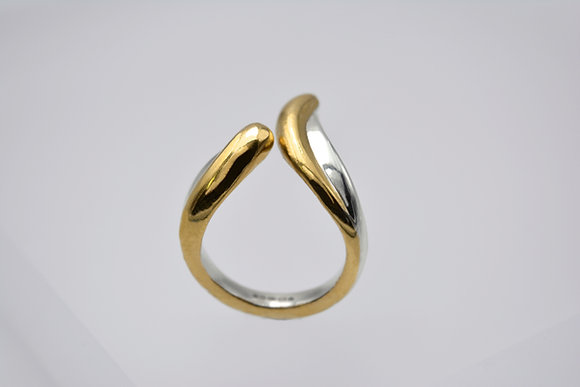 TWO TONED AURORA RING