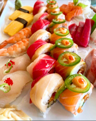 All You Can Eat Sushi Dinner Plate