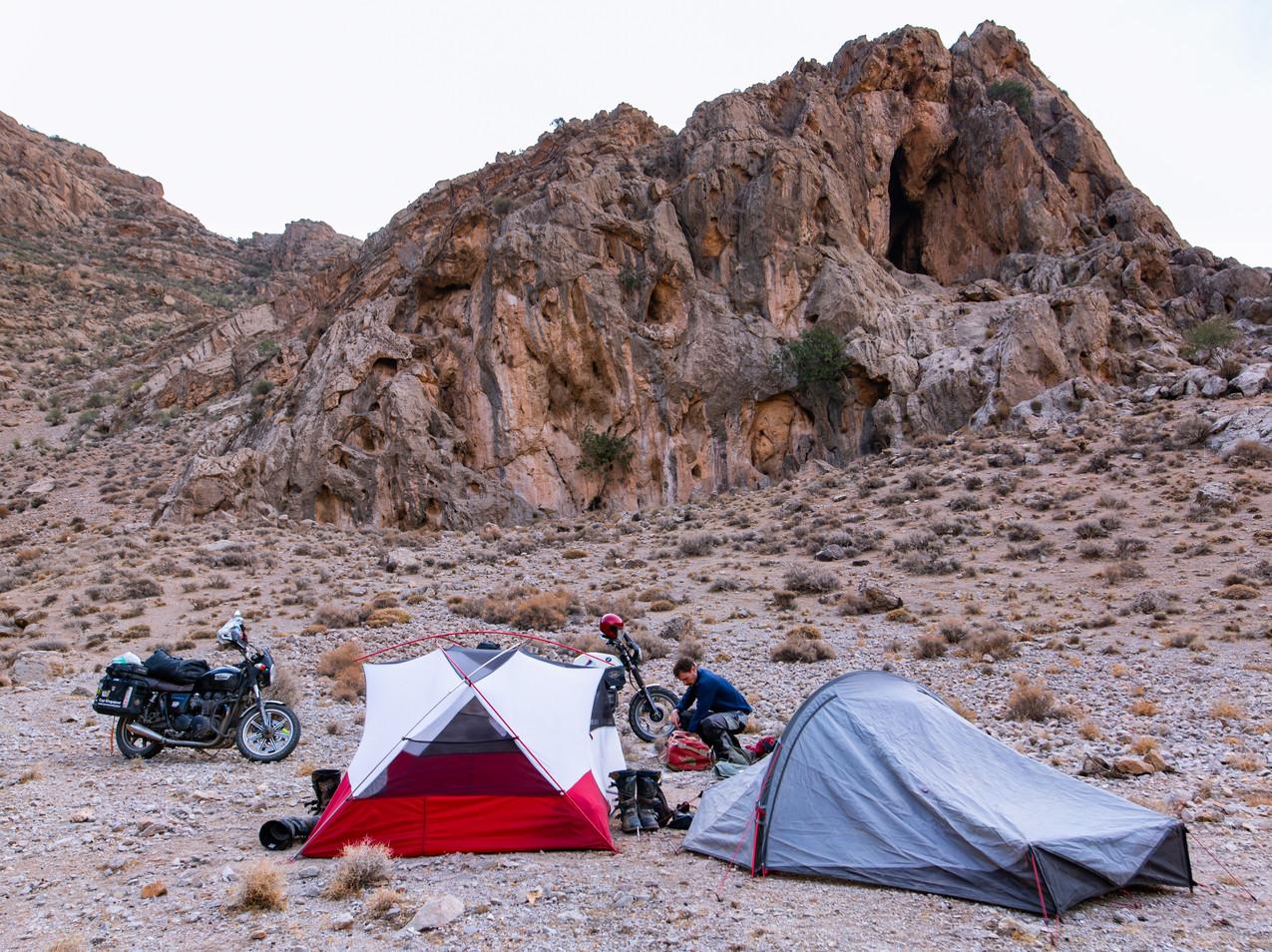 Camping à proximité de Persepolis