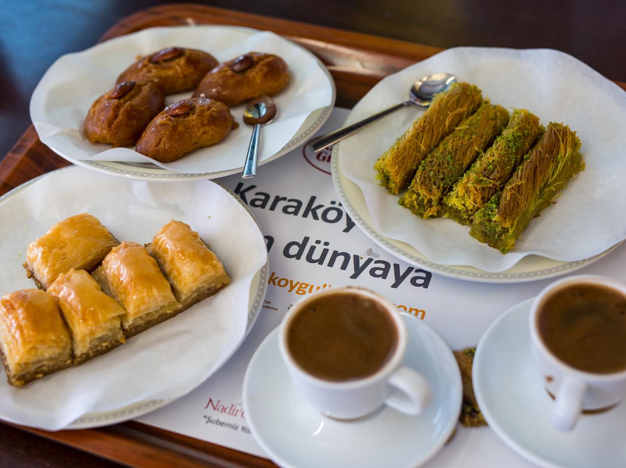 Baklava et cafés turcs