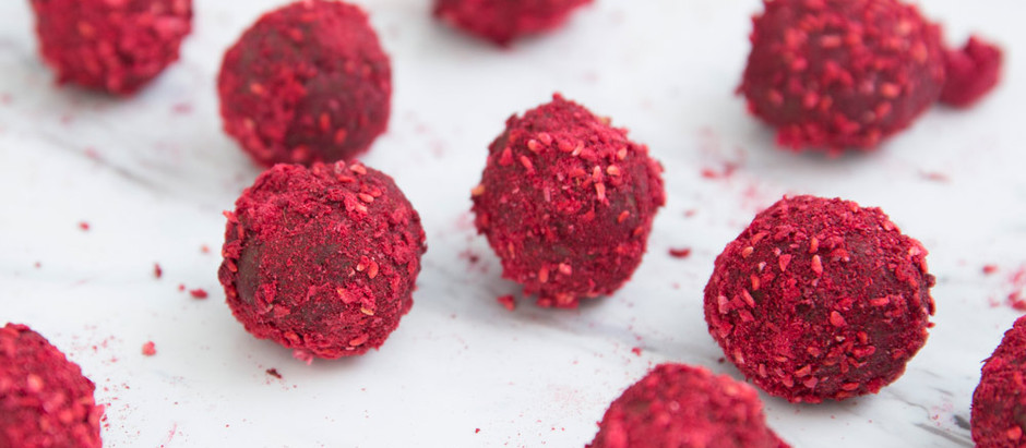 Dark Chocolate Raspberry Orange Truffles