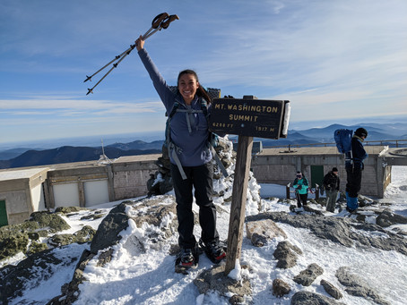 Mt. Washington: A Surprisingly Easy Hike with the Best Winter Weather Ever!