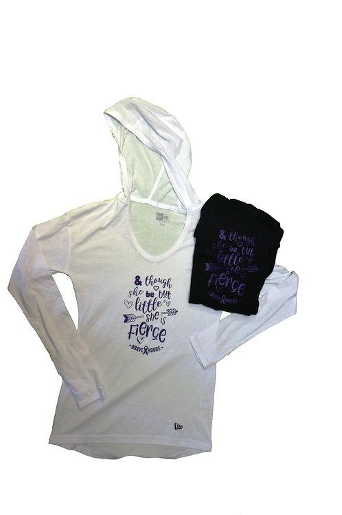 Women's Pullover Hoodie - Little/Fierce Design