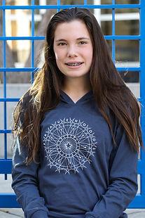 young girl wearing bravehoods family hoodie