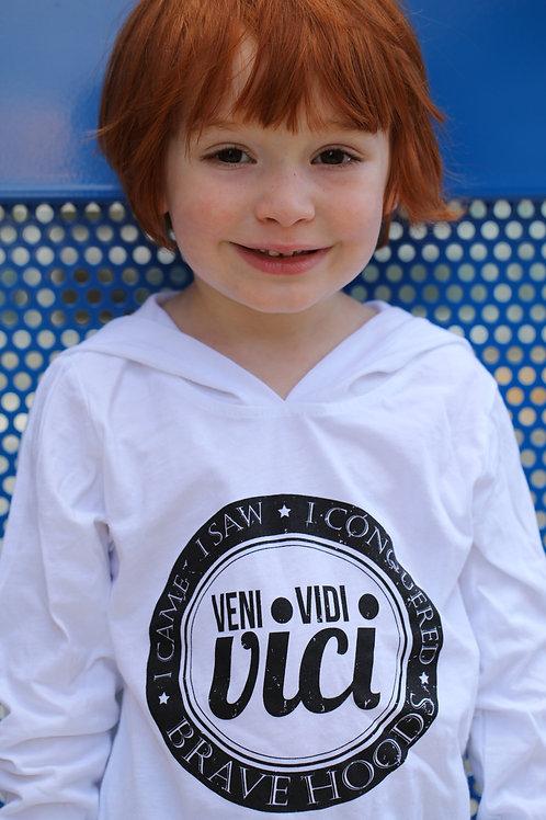Kids Pullover Hoodie: Veni, Vidi, Vici