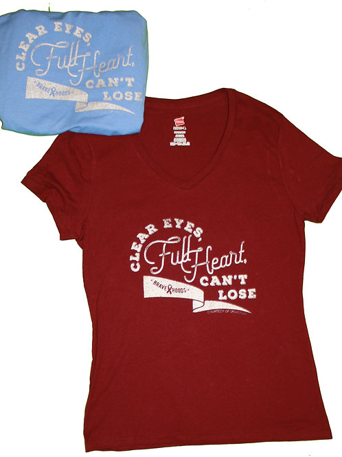 Ladies' T: Clear Eyes, Full Heart, Can't Lose