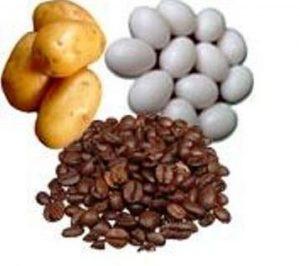 Potatoes, Egg and Coffee