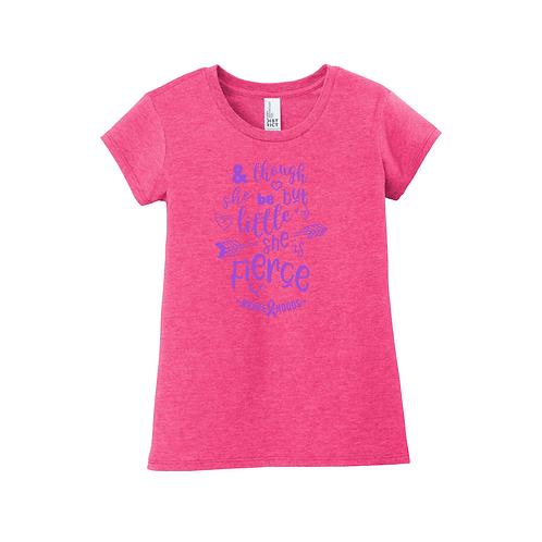 She's Little but Fierce T-Shirt - Girls