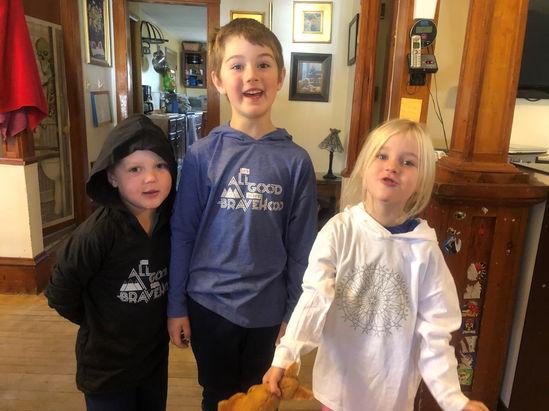 kids wearing bravehoods hoodies