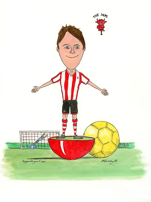 Lincoln City Subbuteo Player
