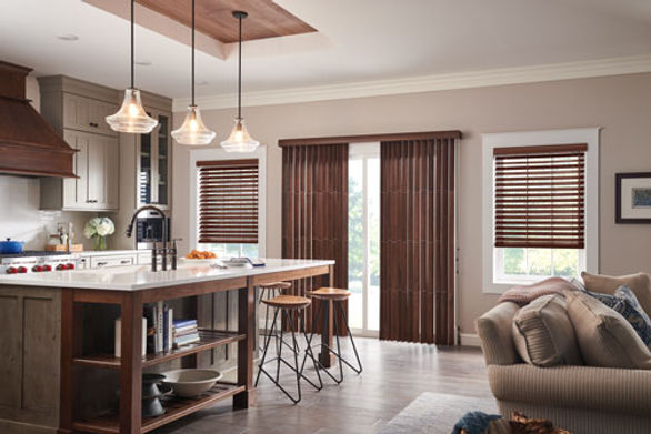 Wood Blinds and Vertical Blinds