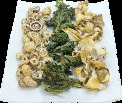 Champiñón, Col kale y setas seco