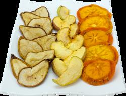 Pera, manzana y kaki seca