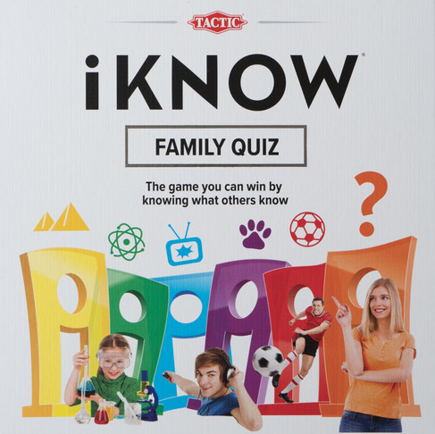 I KNOW family quiz game.