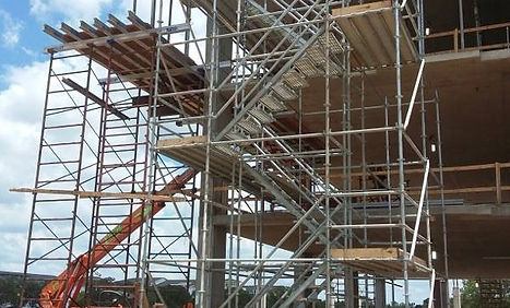 temporary access support stair tower